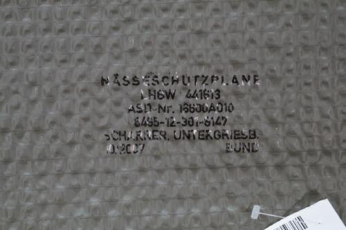 BW Bundeswehr Nässeschutzplane Unterlegplane Elefantenhaut Original Plane oliv
