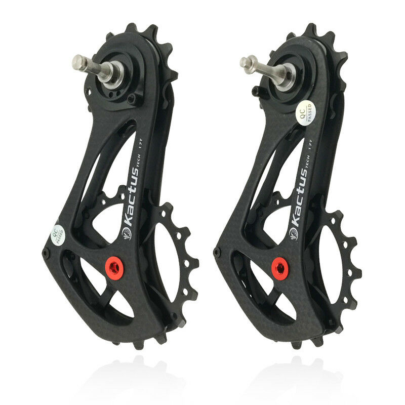 Bike Rear Derailleur Cage Pulley Carbon Fiber 17T For SRAM RIVAL FORCE rosso ETAP