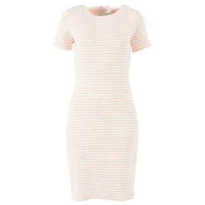 Hugo Boss Damen Etuikleid 50385402 Damarino Weiss Gestreift Xs S Kleid Ebay