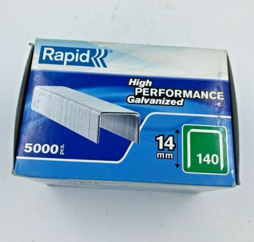 Rapid type 140 Flat Wire Clamp Staples 14 mm Boîte de 5000 11915611