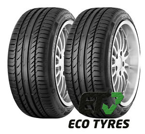 1x 2x tyres 245 45 r19 98w continental contisportcontact5 suv e a 71db ebay. Black Bedroom Furniture Sets. Home Design Ideas