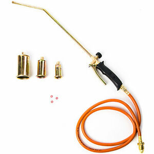 New Portable Propane Blowtorch W Turbo Blast Trigger Flow Valve And 5ft Hose Ebay