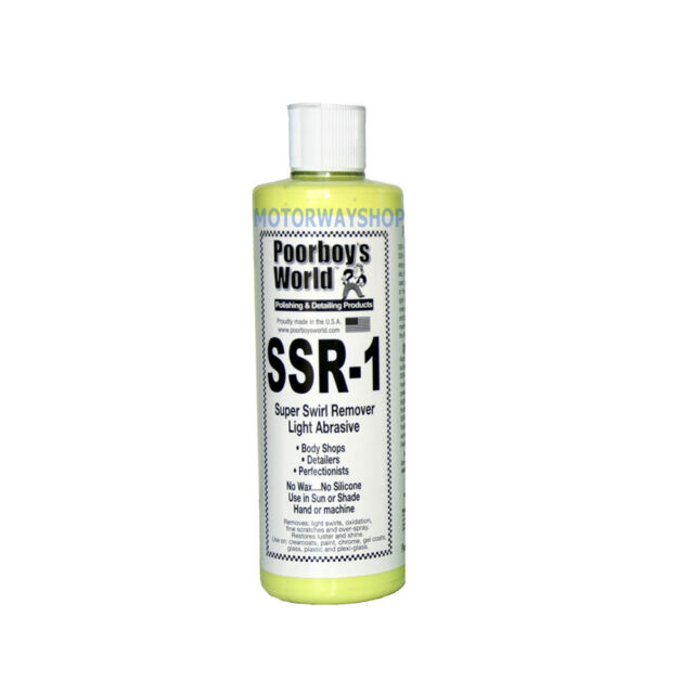 Poorboys World SSR1 Car Super Swirl Scratch Remover Light Abrasive Compound