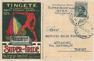 CARTOLINA-d-039-Epoca-PRATO-ILLUSTRATA-PUBBLICITARIA-BELLISSIMA-1914