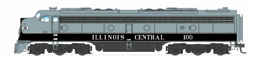 BROADWAY LIMITED 3248 3248 3248 N SCALE EMD E8A ILL CENTRAL 101 Paragon2 Sound DC DCC NEW 52ad84