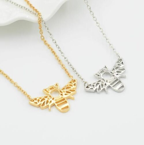 Gold or Silver Bee Necklace Bumblebee Jewellery UK Seller 2018 Christmas