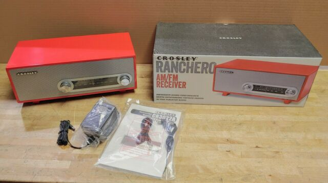 New Retro Crosley Ranchero AM FM Tabletop Radio Receiver Red