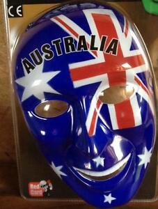 Gesichts Fan Maske Australien Australia Flagge Fahne Karneval