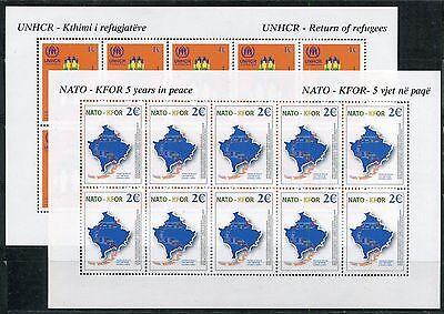 4775 Kosovo 2004 Kleinbogen Kb 18-19 ** Kfor Nato -rar Wohltuend FüR Das Sperma