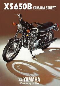 Details About Yamaha Brochure Xs650 B Xs650b 1975 Uk Sales Catalog Catalogue Repro