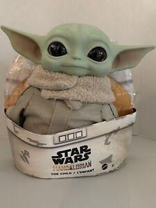 Star-Wars-Mandalorian-The-Child-11-034-Plush-Baby-Yoda-Doll-Priority-Mail-Shipping