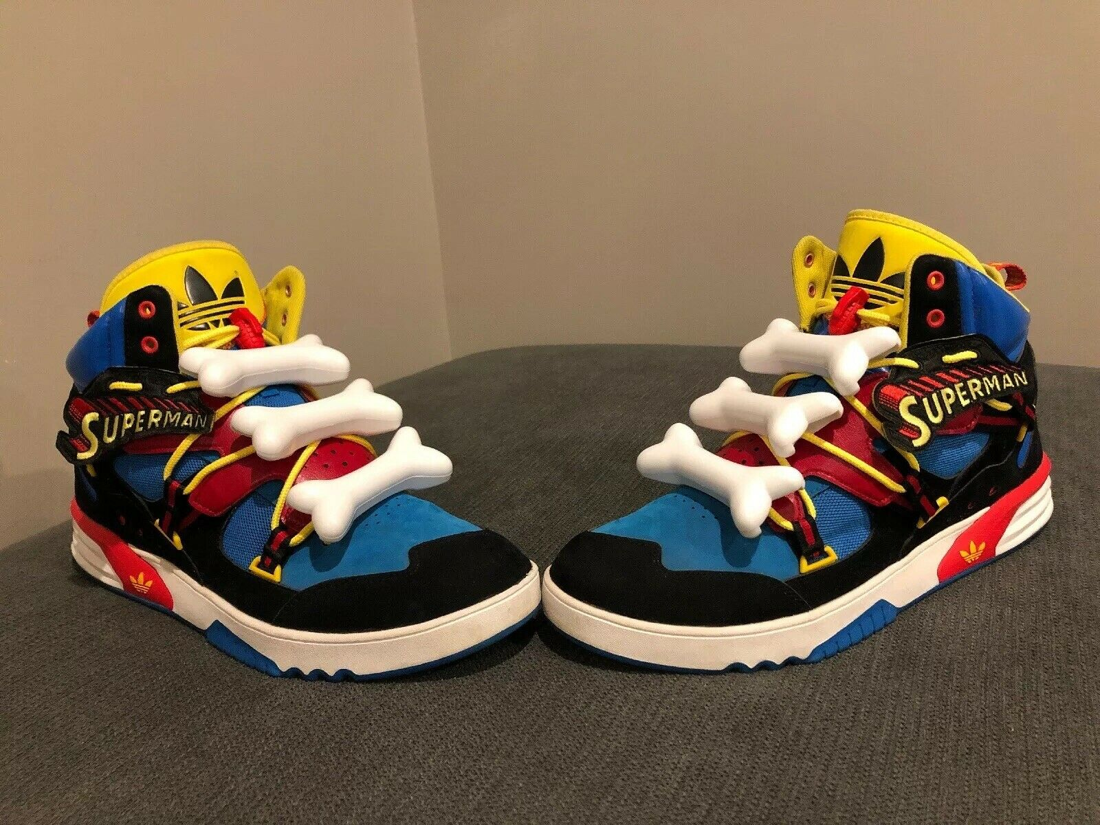 Adidas, Jeremy Scott Superman Bones Tribute, Size Size Size 14, Rare  b2703d