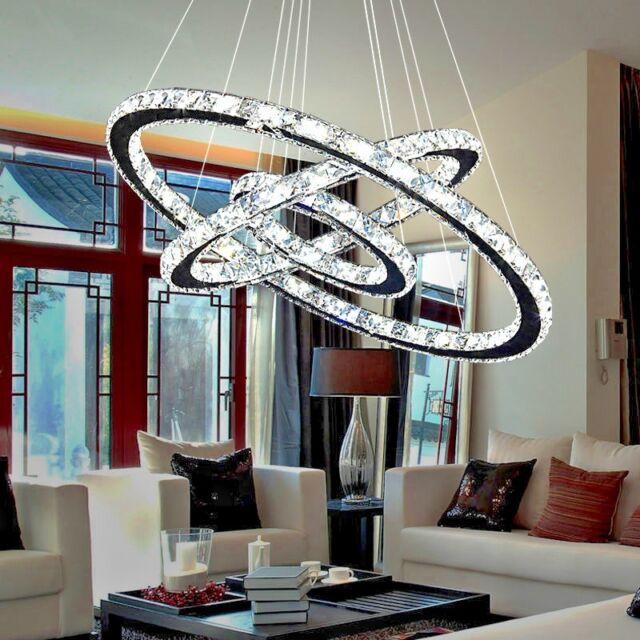 Modern Gold Ring Crystal Led Light