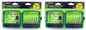 Lot of 2 Drill/Tap 6pc Kit Sets DTAPKIT By Greenlee #6-32-1/4-20 Electrical