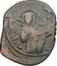 JESUS CHRIST Class C Anonymous Ancient 1034AD Byzantine Follis Coin   i41901