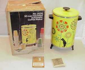 1972-VINTAGE-FLOWER-POWER-WESTBEND-30-CUP-COFFEE-MAKER-WITH-ORIGINAL-BOX