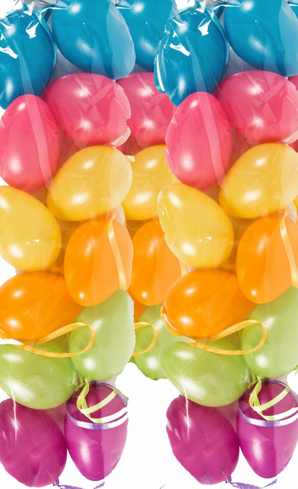 576 Plastik Ostereier pastell Farben - Kunststoff Osterei 4cm
