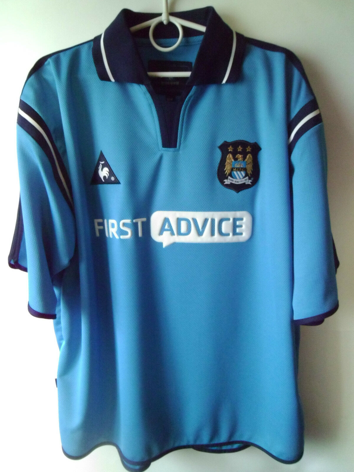 RARE    EXCELLENT    2002-03 Manchester City Home Shirt Jersey L 42 44