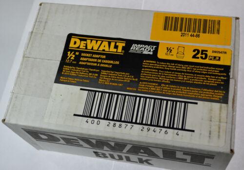 "DeWalt Socket Adapter Set Hex Shank to 1//4/"",3//8/"",1//2/"" Impact Driver//Drill Ready"