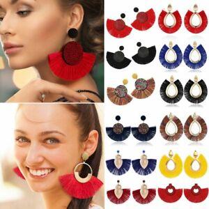 Handmade-Bohemian-Large-Tassel-Earrings-Women-Fringe-Earrings-Wedding-Jewellery