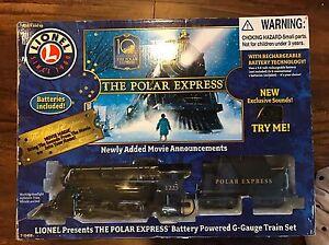 LIONEL THE POLAR EXPRESS G TRAIN SET SANTA'S SLEIGH BELL ... |Polar Express Train Set Christmas Tree