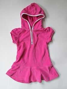4ba1498f55514 Ralph Lauren pink terry hoodie dress cover up green Polo pony 18M