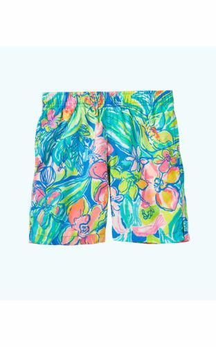 NWT Lilly Pulitzer Capri Surf Gypsea Swim Trunks Size Kids XL