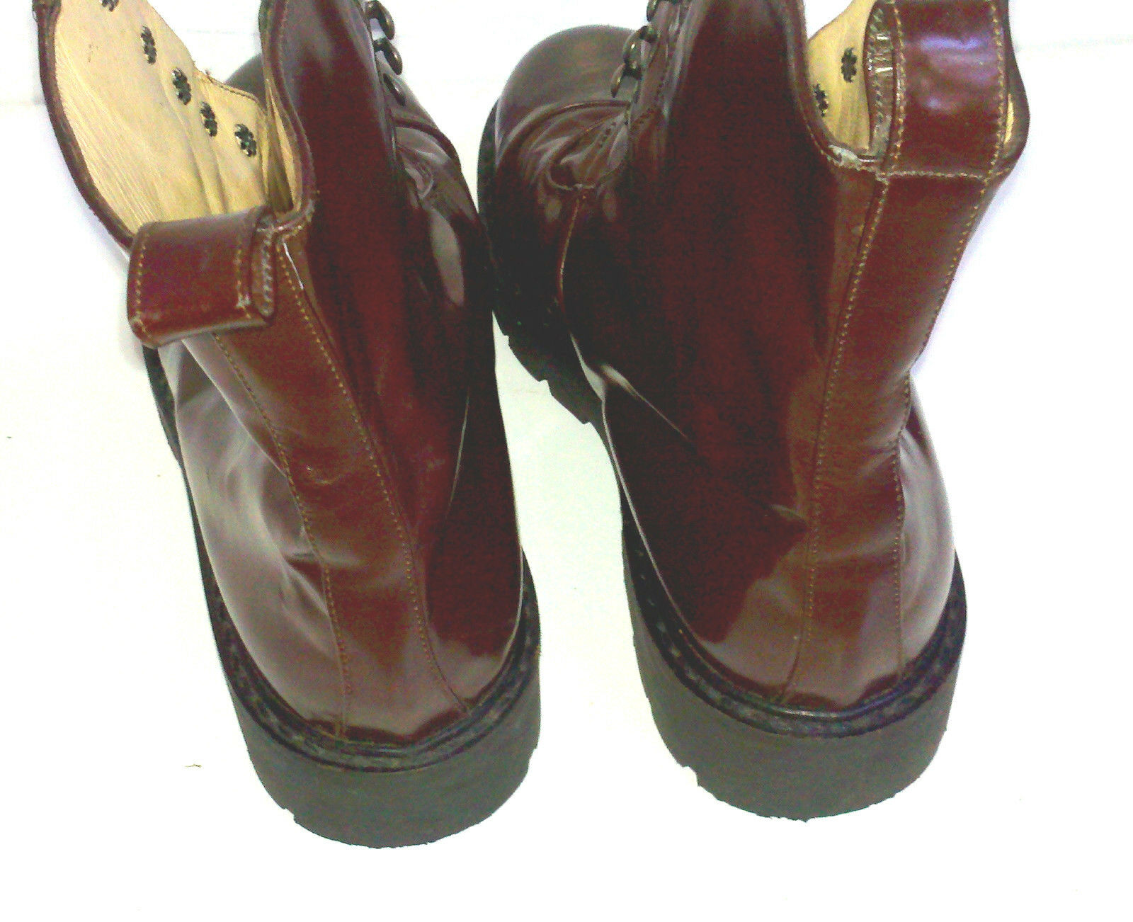SUSAN MENNIS HANDMADE ITALIAN Stiefel BROWN 6 PATENT LEATHER ANKLE S 6 BROWN steam punk 904265