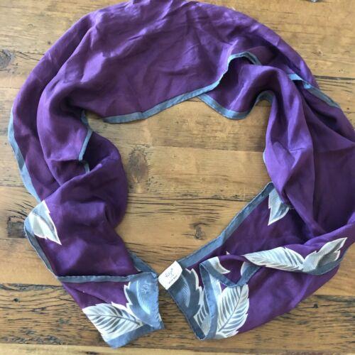 Katja for XIIX Karat Purple Gray & Cream Leaf Prin