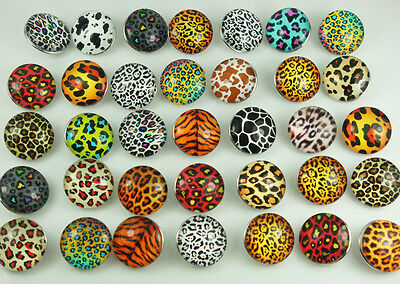 new Alloy Mix Round Chunks Snap Button Charm fit Nosa Bracelet Leopard Series
