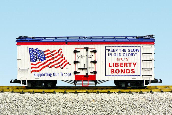 USA Trains Escala G R16486 Liberty Bonds  Old Glory  patriótico coche