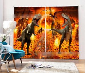 3d dinosaurios 526 bloqueo foto cortina cortina de impresión sustancia cortinas de ventana