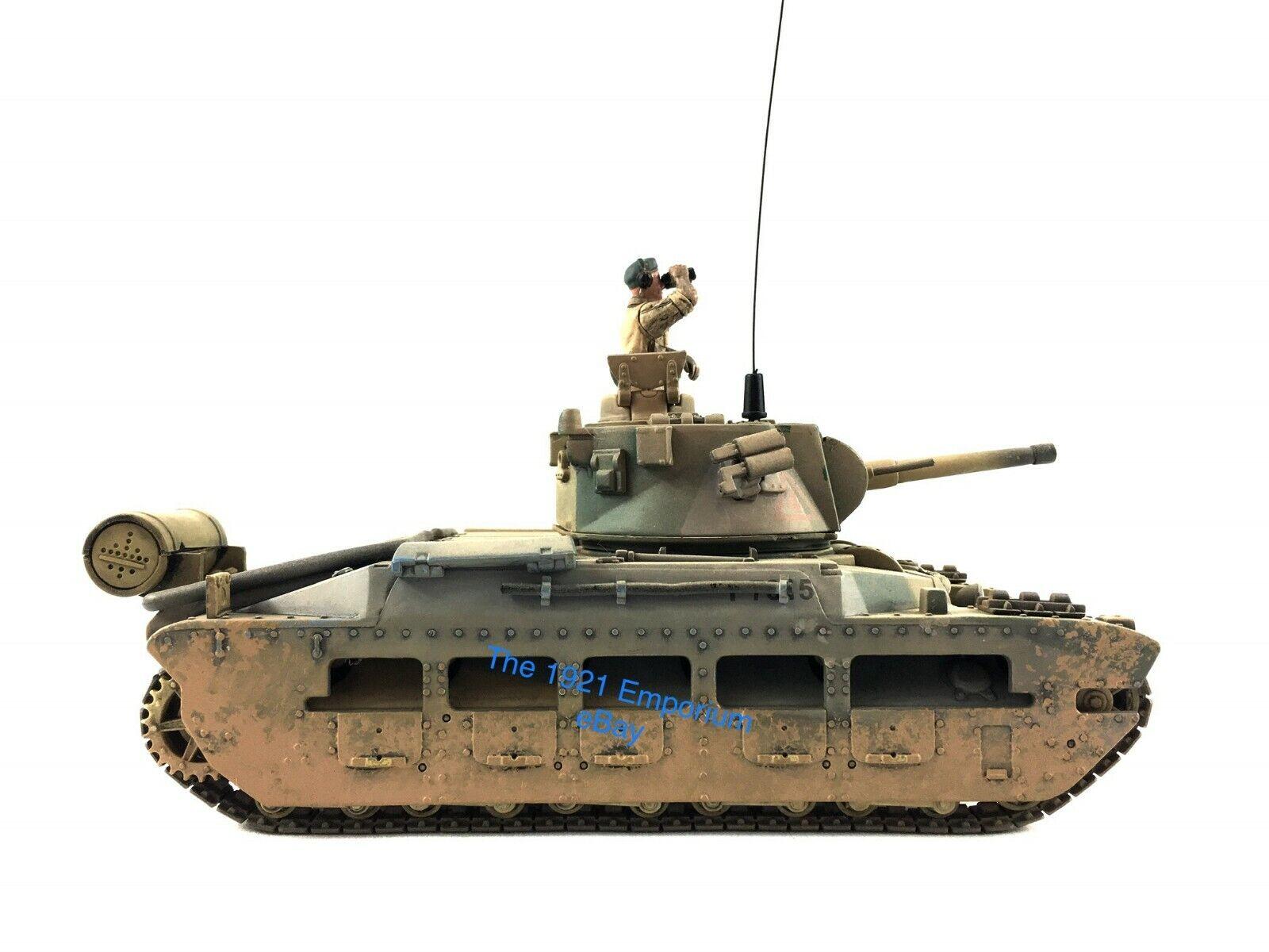1 32 tärningskast Unimax Forces of Valor WWII British Matilda Tank - w   Commander