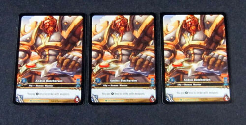 3 World of Warcraft WoW TCG Andiss Butcherson Fires Outland Promo Extended Art