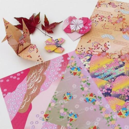 JAPANESE 100 pcs Sakura Square Folding ORIGAMI CHIYOGAMI CRAFT PAPER  4 Patterns
