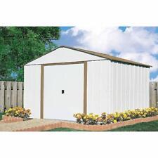 10 X 10 Storage Shed Outdoor Backyard Metal Storage Garage Tools Mower