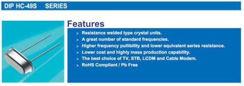 20PCS 3.579 M 3.579 MHz 3.579545 M 3.579545 MHz Cristal Oscillateur HC-49S
