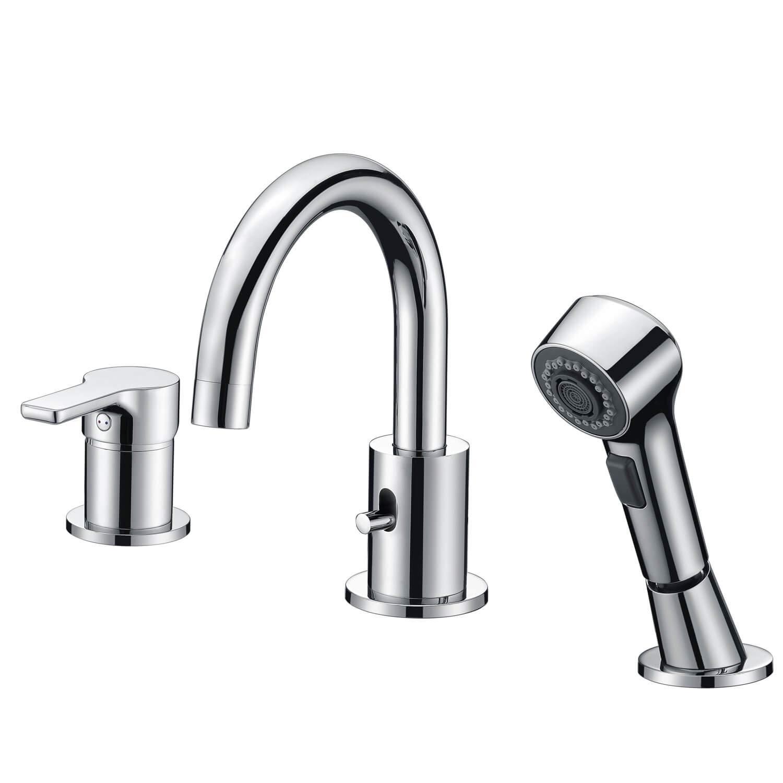 Salle de bains Robinet 3 trous laiton Shampooing Basin Faucet généralisée lavabo CREA baignoire