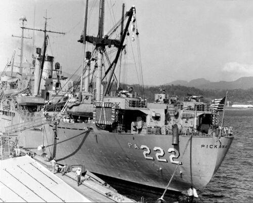 USS PICKAWAY APA-222 AT NAVAL STATION SUBIC BAY 8x10 SILVER HALIDE PHOTO PRINT