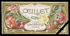 Rare French Soap (perfume) Label: Art Nouveau - Savon Oeillet Victor Vaissier
