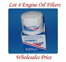 Lot 4 Oil Filter V4651 GROUP7 MADE IN USA FIt Chrysler Dodge Ford Jeep Lincoln &