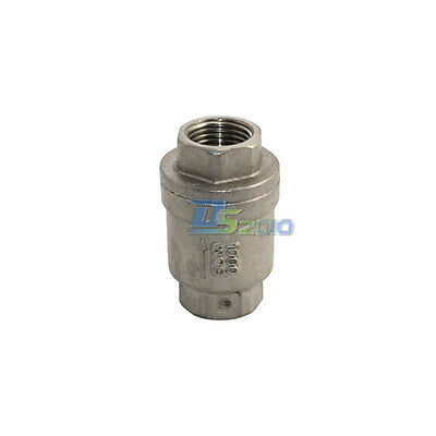 Check Valve WOG 1000 Spring Loaded In-line Stainless Steel SS316 CF8M NEW