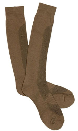 New COOLMAX BOOT SOCKS All Sizes Hiking Military Foot Thermal Wear COYOTE