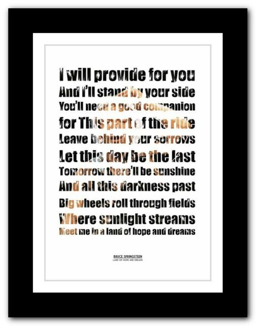 ❤BRUCE SPRINGSTEEN - Land Of Hope And Dreams ❤ poster art print - 4 sizes