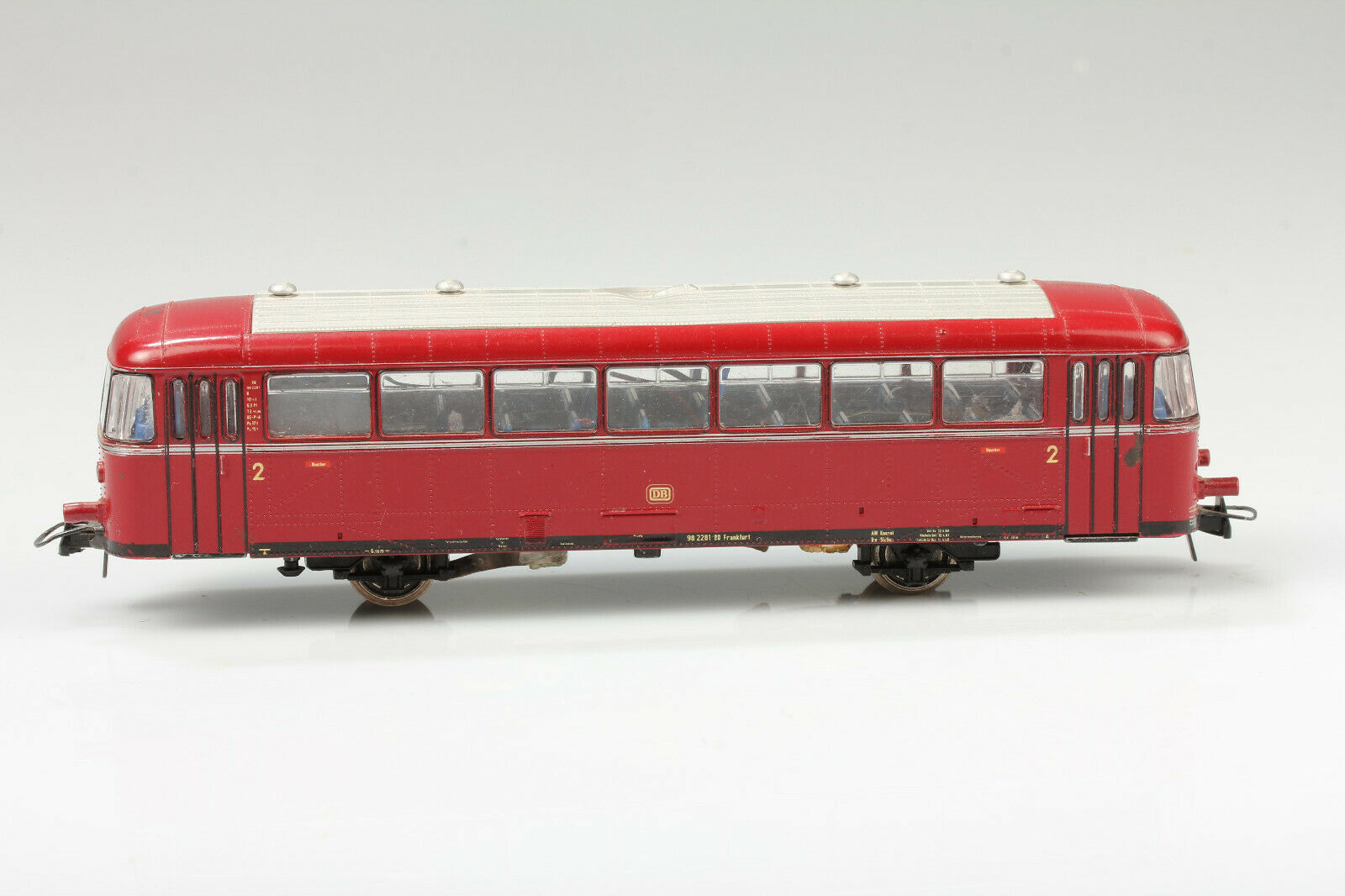 H0 Roco Ultra-Gredtiger Rail Bus Side Car vs 98 228 Lumber Craft Defects