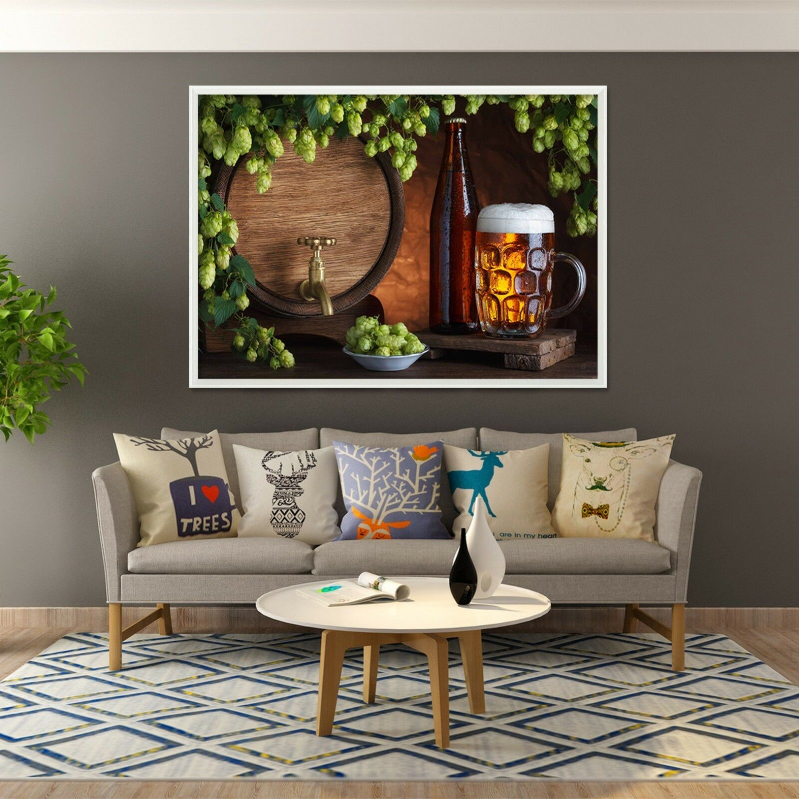 3D Beer Cheese 64 Fake Framed Poster Home Decor Print Painting Unique Art Summer