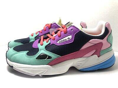 Cabecear siete y media barco  Adidas Originals Womens Falcon Sneakers Navy Hi-res Green Multi Size 11  /CG6211 191529105168 | eBay