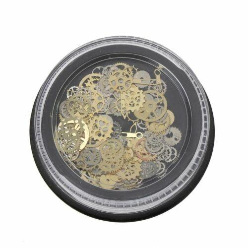120Pcs Mixed steampunk rouages Gear Horloge charme UV Cadre À faire soi-même Résine Bijoux PLOMBAGES