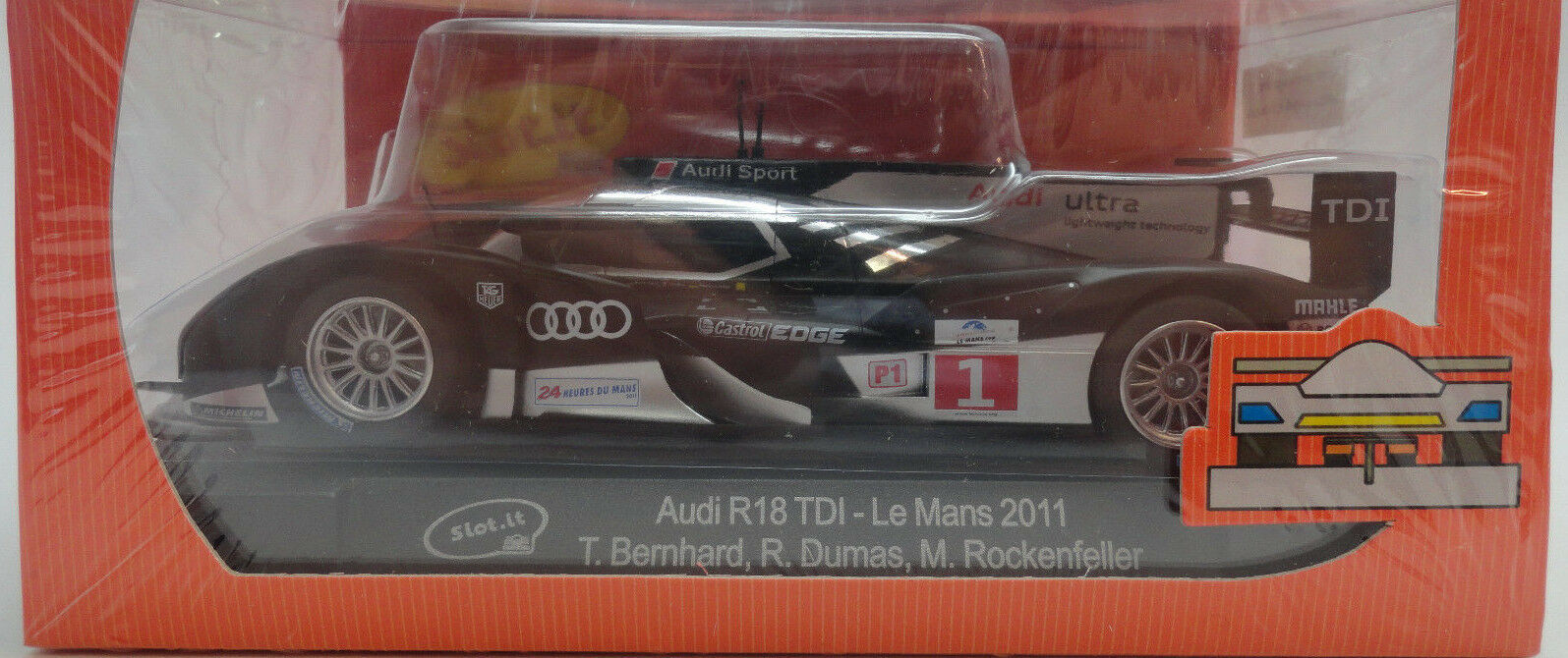 Slot It Audi R18 TDI - 2011 Le Mans 1 32 Scale slot Car CA24B