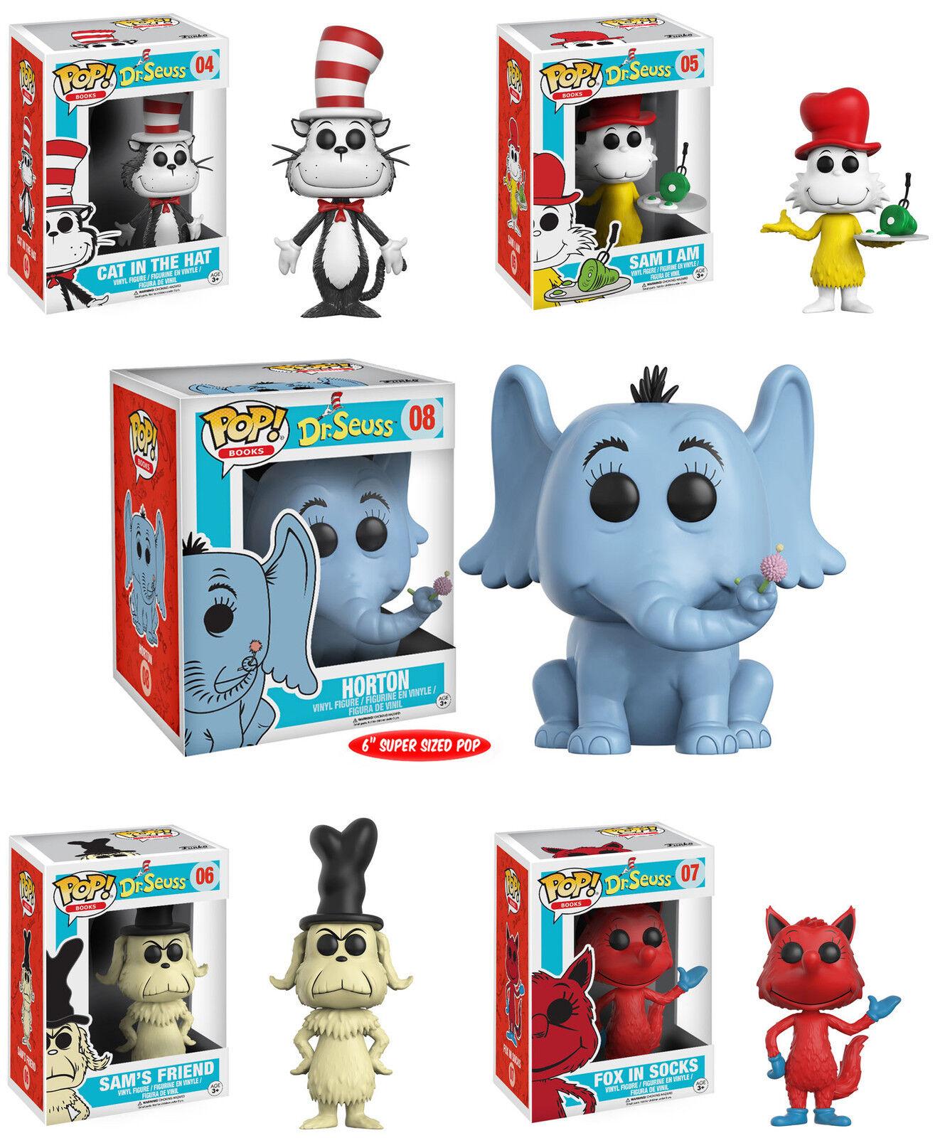 Funko POP  Books  DR. SEUSS VINYL FIGURE SET  Cat in the Hat, Sam-I-Am, Horton